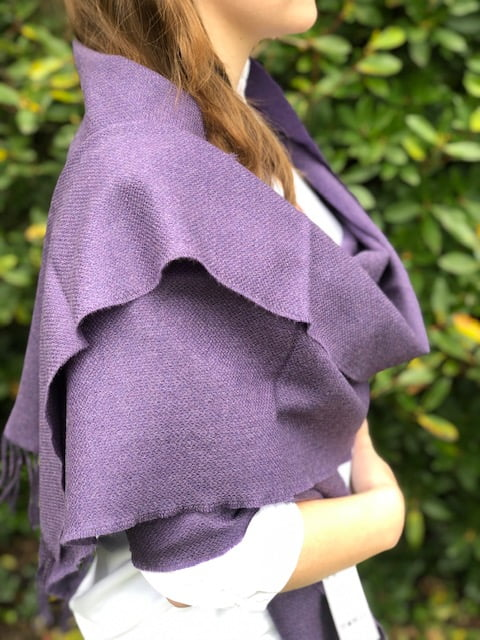 Large Merino Wool Scarf Mauve