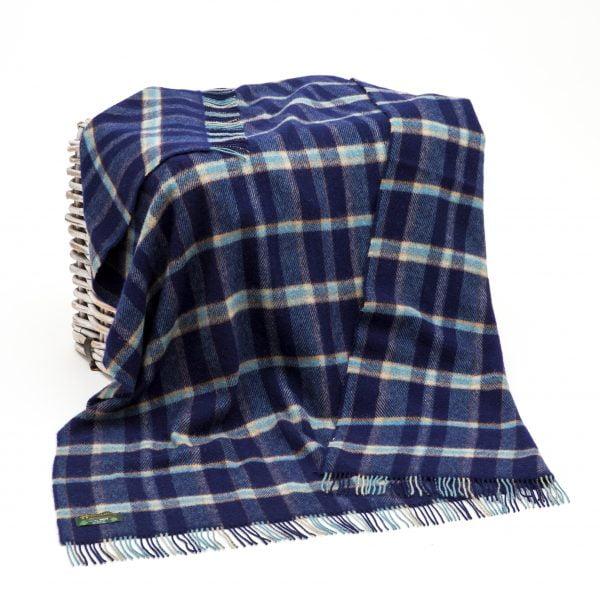 Large Irish Picnic Blanket Multi Colour Plaid