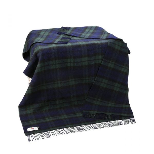 Large Irish Picnic Blanket Blackwatch Plaid
