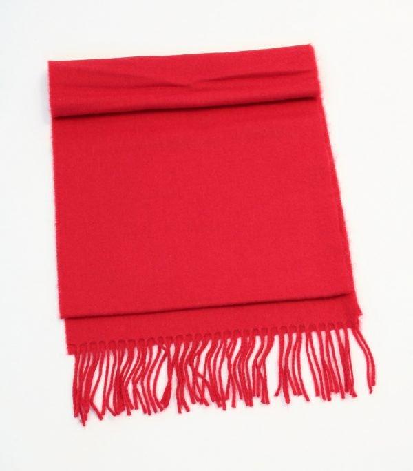 Merino Luxury Wool Scarf Solid Red