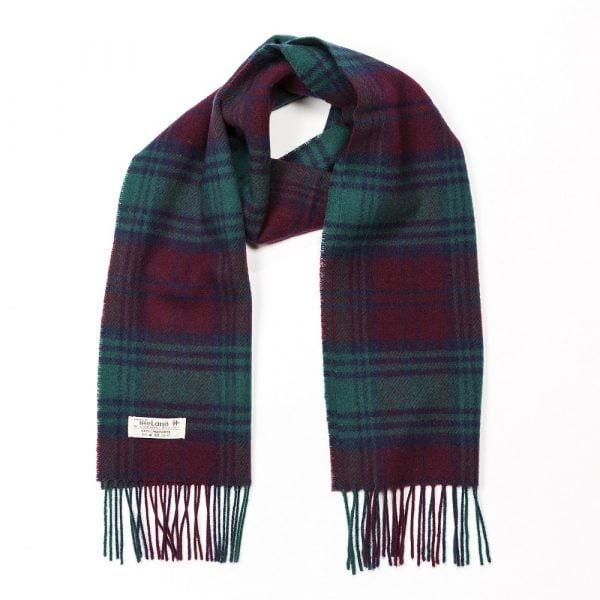 Irish Wool Scarf Short Lindsay Tartan