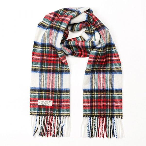 Irish Wool Scarf Short Dress Stewart Tartan