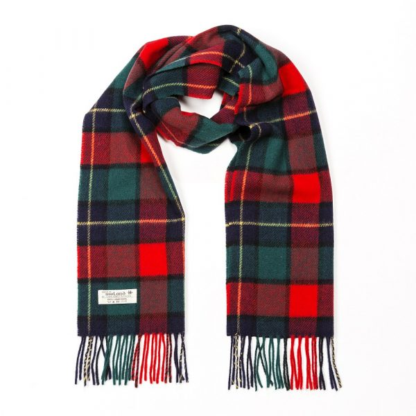 Irish Wool Scarf Short Kilgur Tartan