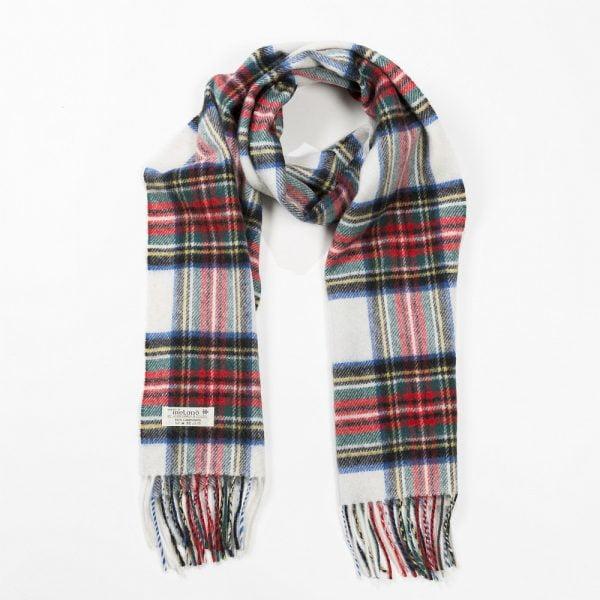 Irish Wool Scarf Medium Dress Stewart Tartan