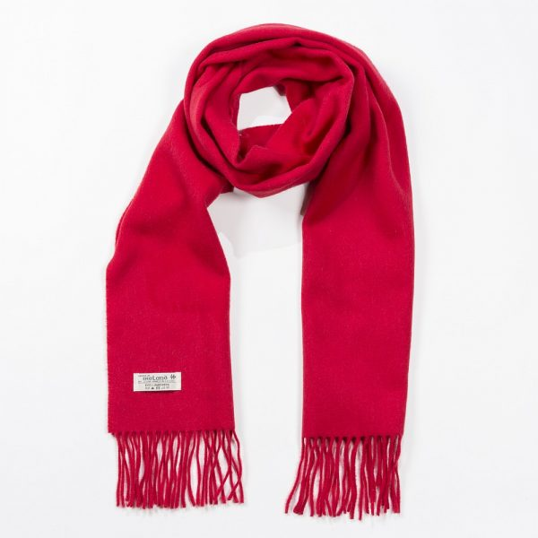 Irish Wool Scarf Medium Solid Red