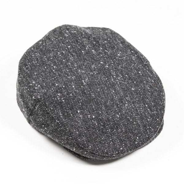Irish Tweed Cap Charcoal Black Plain