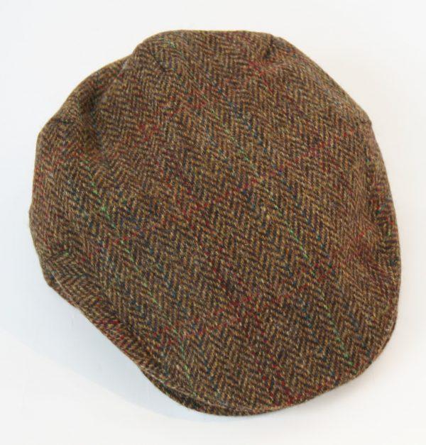Irish Tweed Cap Tan Brown Herringbone