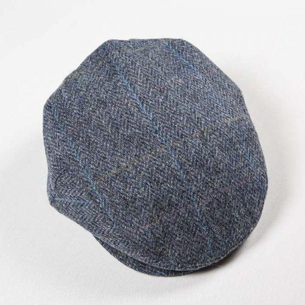 Irish Tweed Cap Grey Denim Herringbone