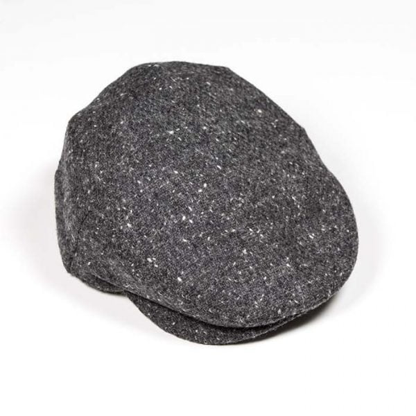 Irish Tweed Cap Solid Charcoal Donegal