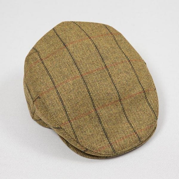 Irish Tweed Cap Yellow Rust Overcheck