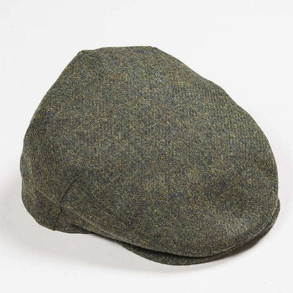Irish Tweed Cap Dark Green Solid