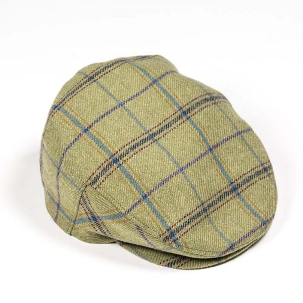 Irish Tweed Cap Green Check