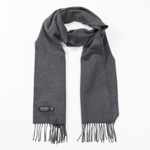 Merino Luxury Wool Scarf Solid Charcoal