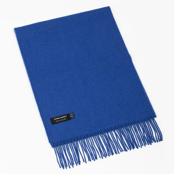 Merino Luxury Wool Scarf Royal Blue