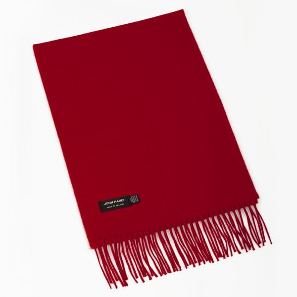 Merino Luxury Wool Scarf Red