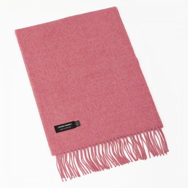 Merino Luxury Wool Scarf Solid Pink Mix