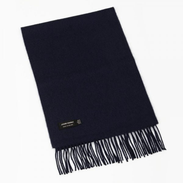 Merino Luxury Wool Scarf Solid Smoke Navy