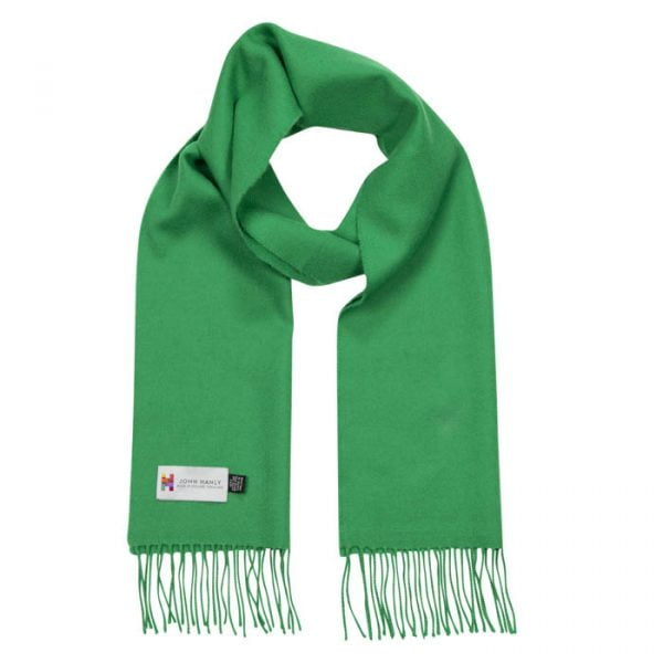 Merino Luxury Wool Scarf Emerald Green