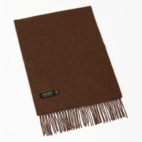 Merino Luxury Wool Scarf Brown Mix
