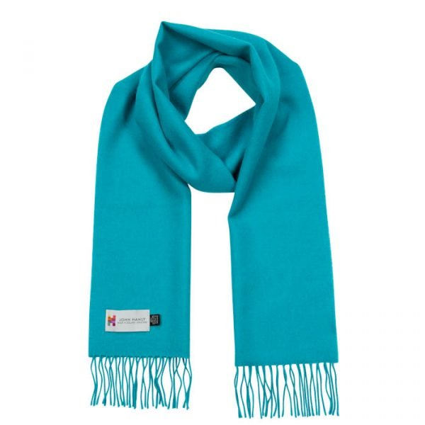 Merino Luxury Wool Scarf Turquoise Blue