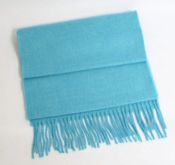 Merino Luxury Wool Scarf Turquoise Blue