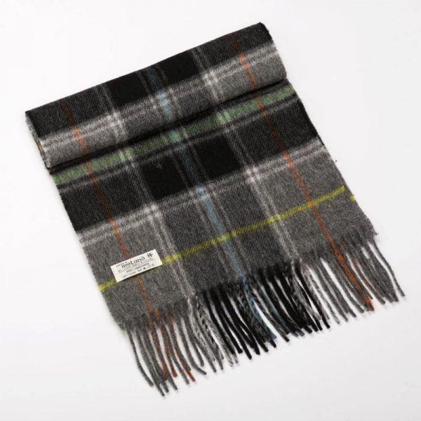 Irish Wool Scarf Grey Check