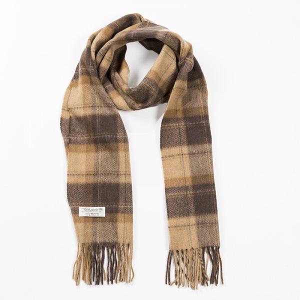 Irish Wool Scarf Medium Camel