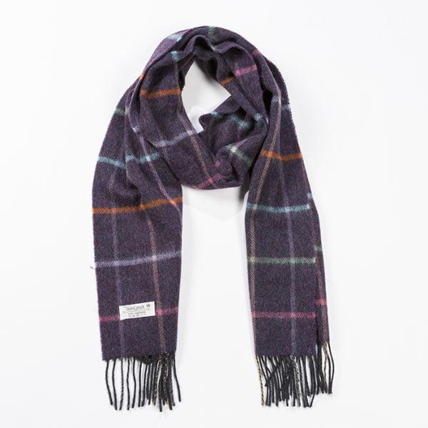 Irish Wool Scarf Medium Heather Purple