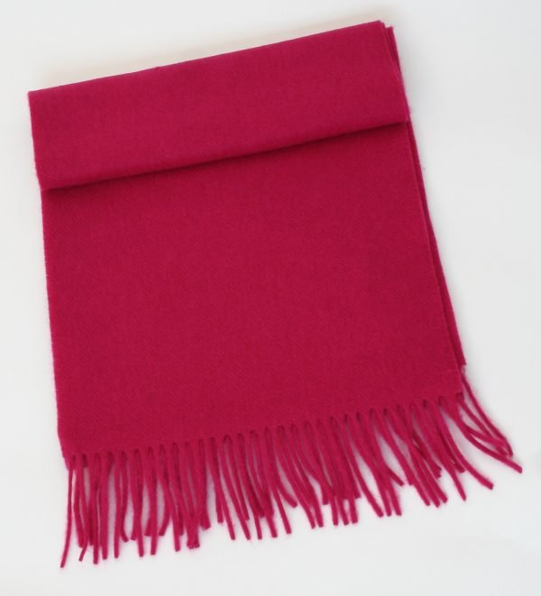 Irish Wool Scarf Medium Cerise Pink