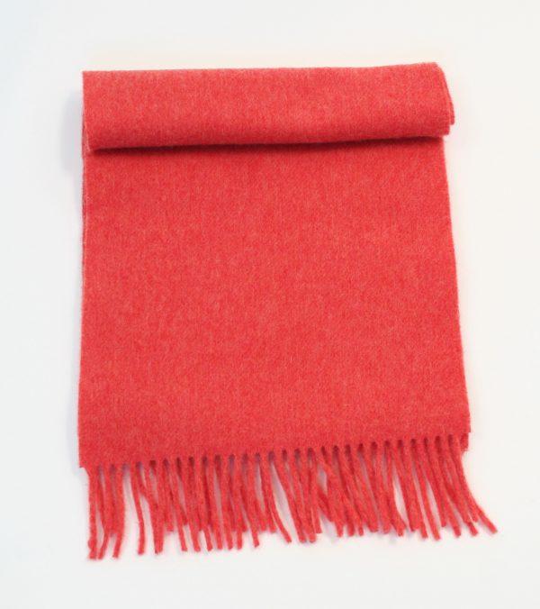 Irish Wool Scarf Medium Coral