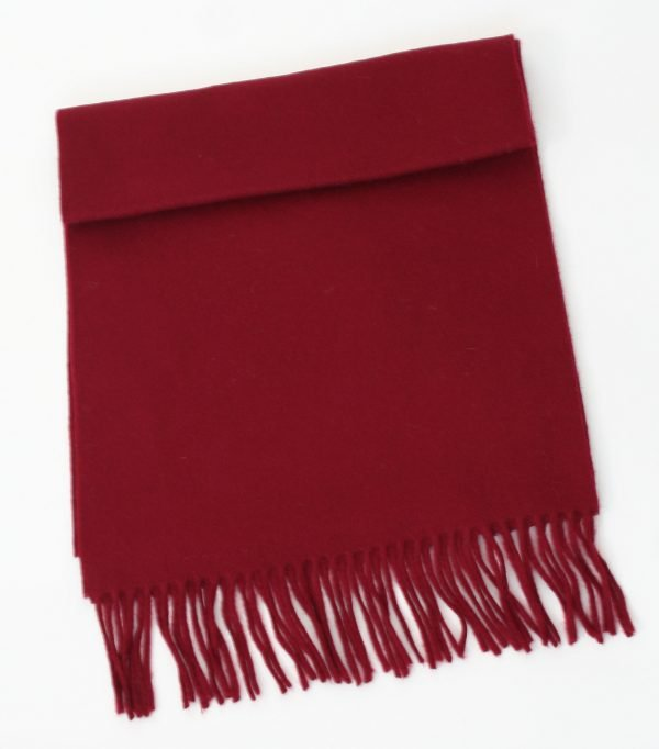 Irish Wool Scarf Medium Claret
