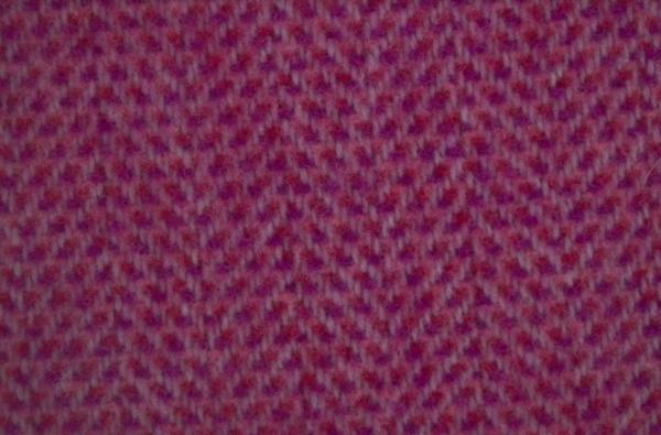 Oversize Cashmere Throw Raspberry Herringbone