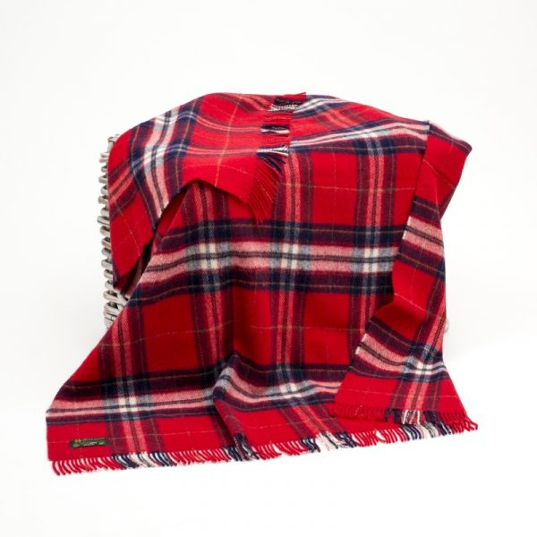 Large Irish Picnic Blanket Red Check
