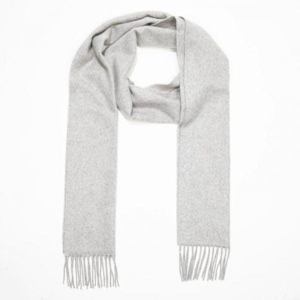 100% Cashmere Scarf Silver Grey