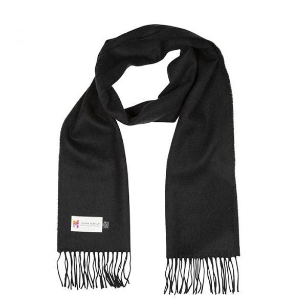 Merino Luxury Wool Scarf Solid Black