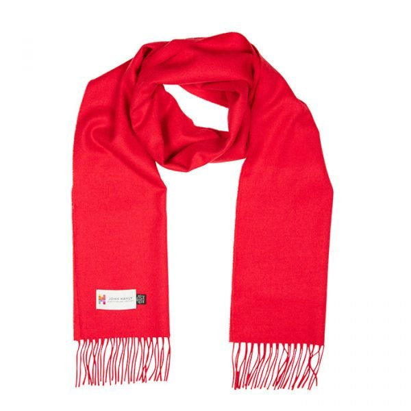 Merino Luxury Wool Scarf Solid Red