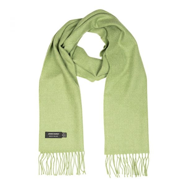 Merino Luxury Wool Scarf Solid Apple Green