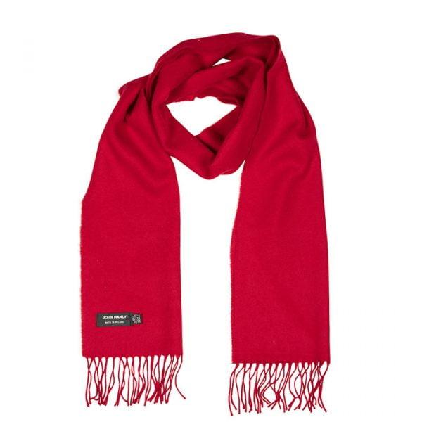 Merino Luxury Wool Scarf Red