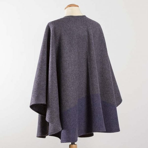 Lambswool Cape Mauve with Purple Band