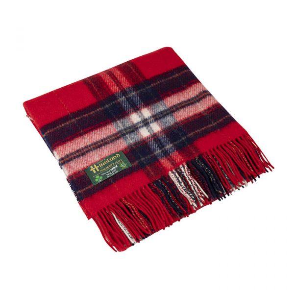 Irish Knee Blanket Red Check
