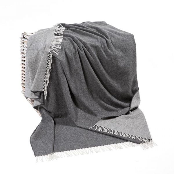 Lambswool Throw Grey