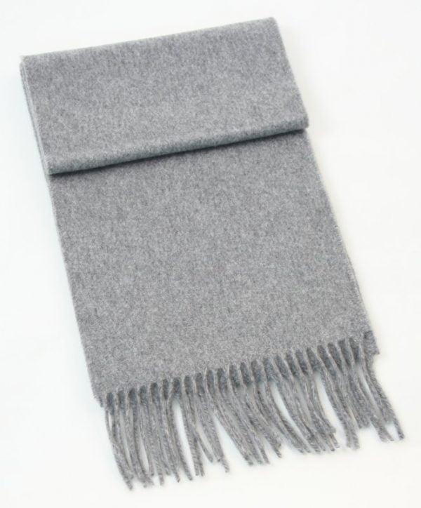Irish Cashmere Wool Scarf Silver Grey