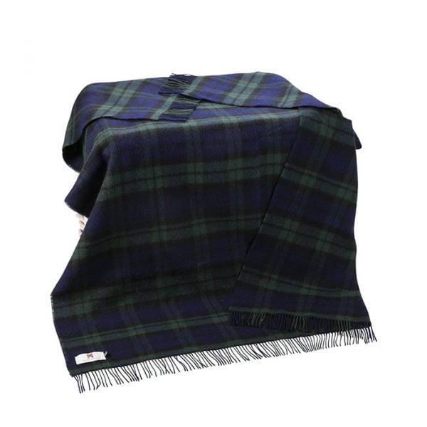 Large Irish Picnic Blanket Blackwatch Plaid