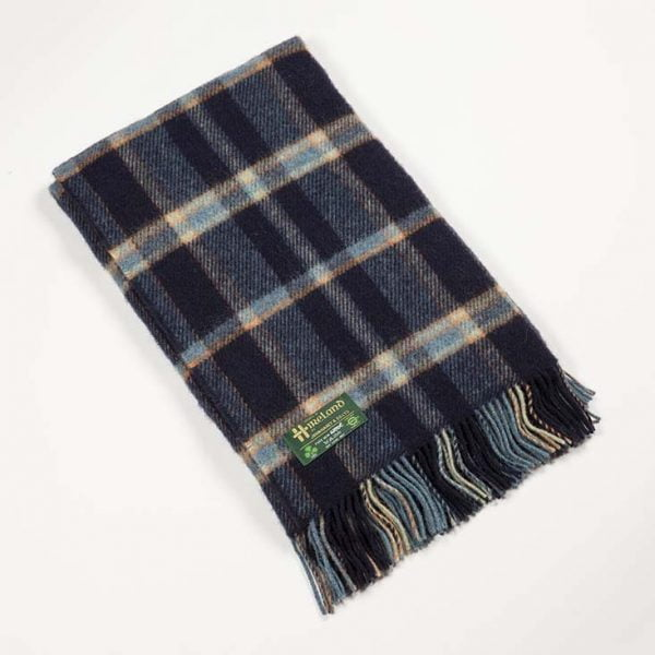 Irish Knne Picnic Blanket Navy Blue Plaid